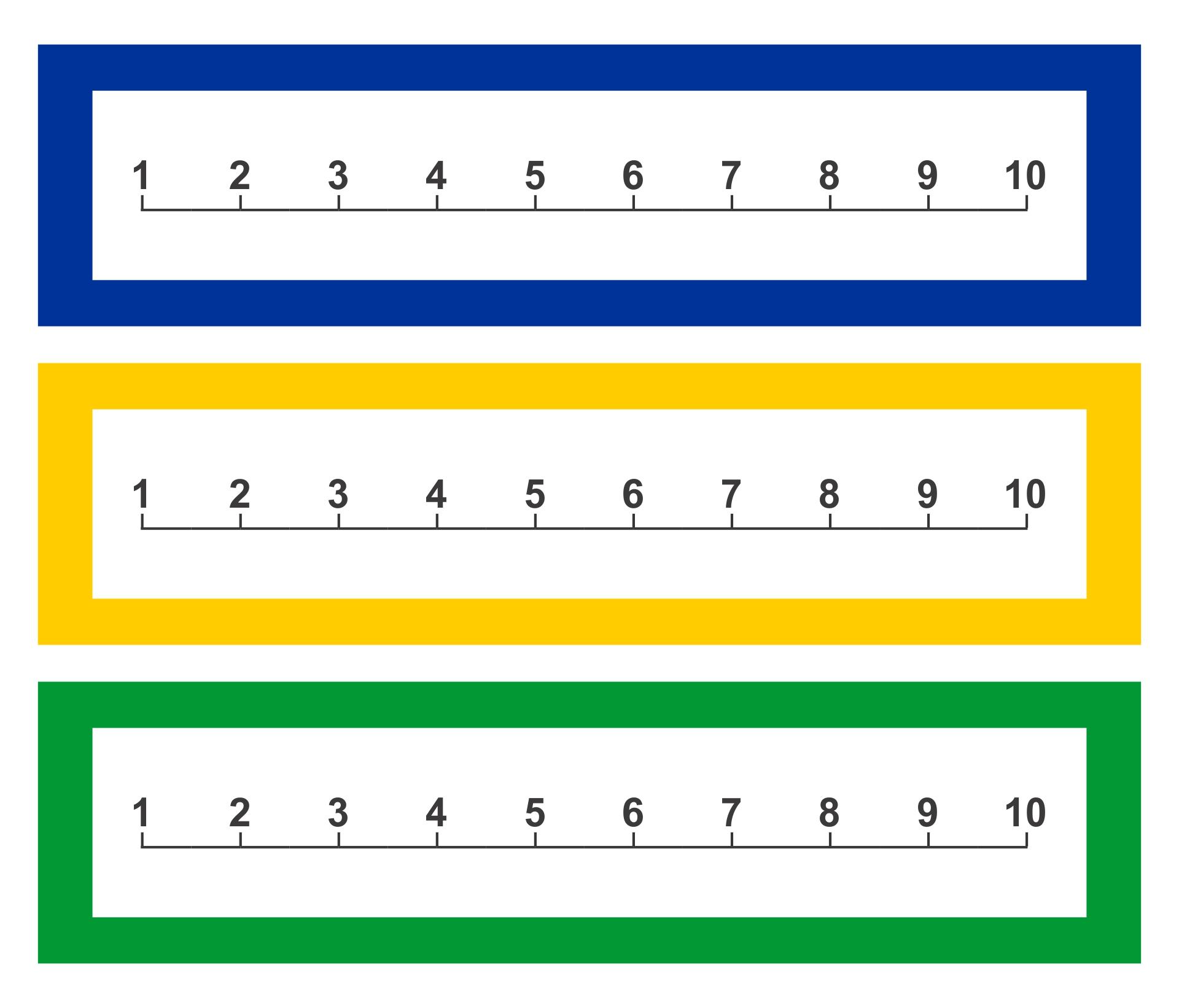 Printable Number Line 1-10