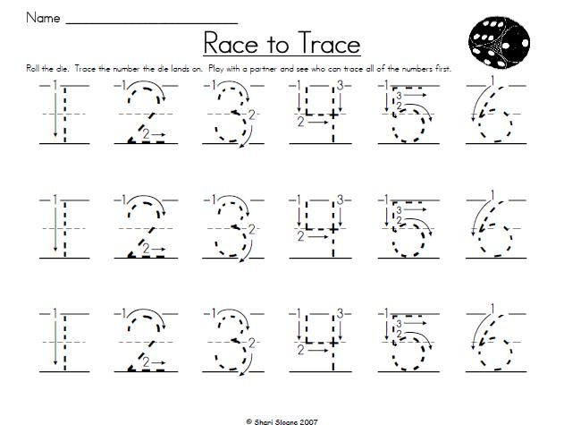math worksheet : 7 best images of traceable numbers worksheets printable  : Kindergarten Tracing Worksheets