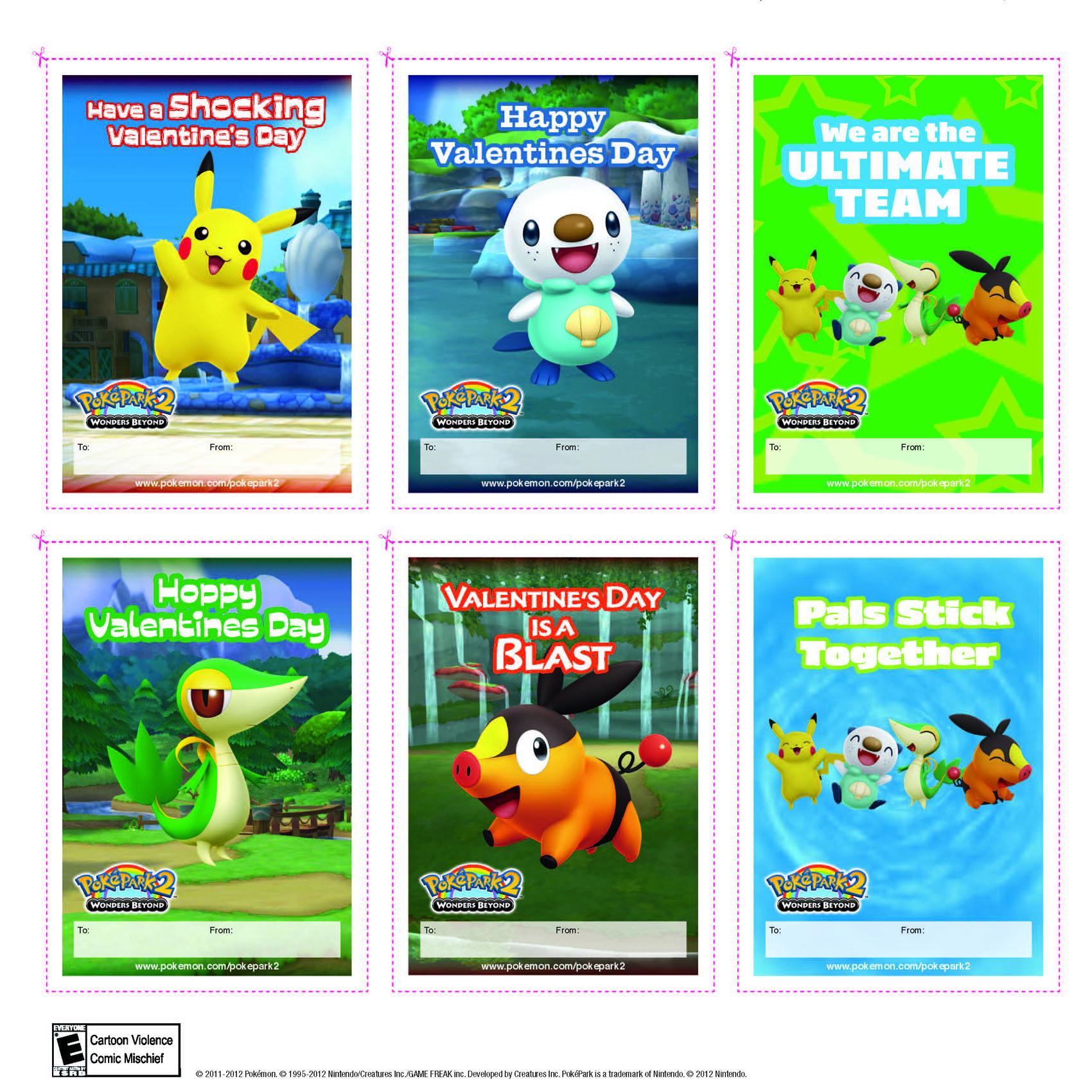 5 Images of Pokemon Valentine's Printable