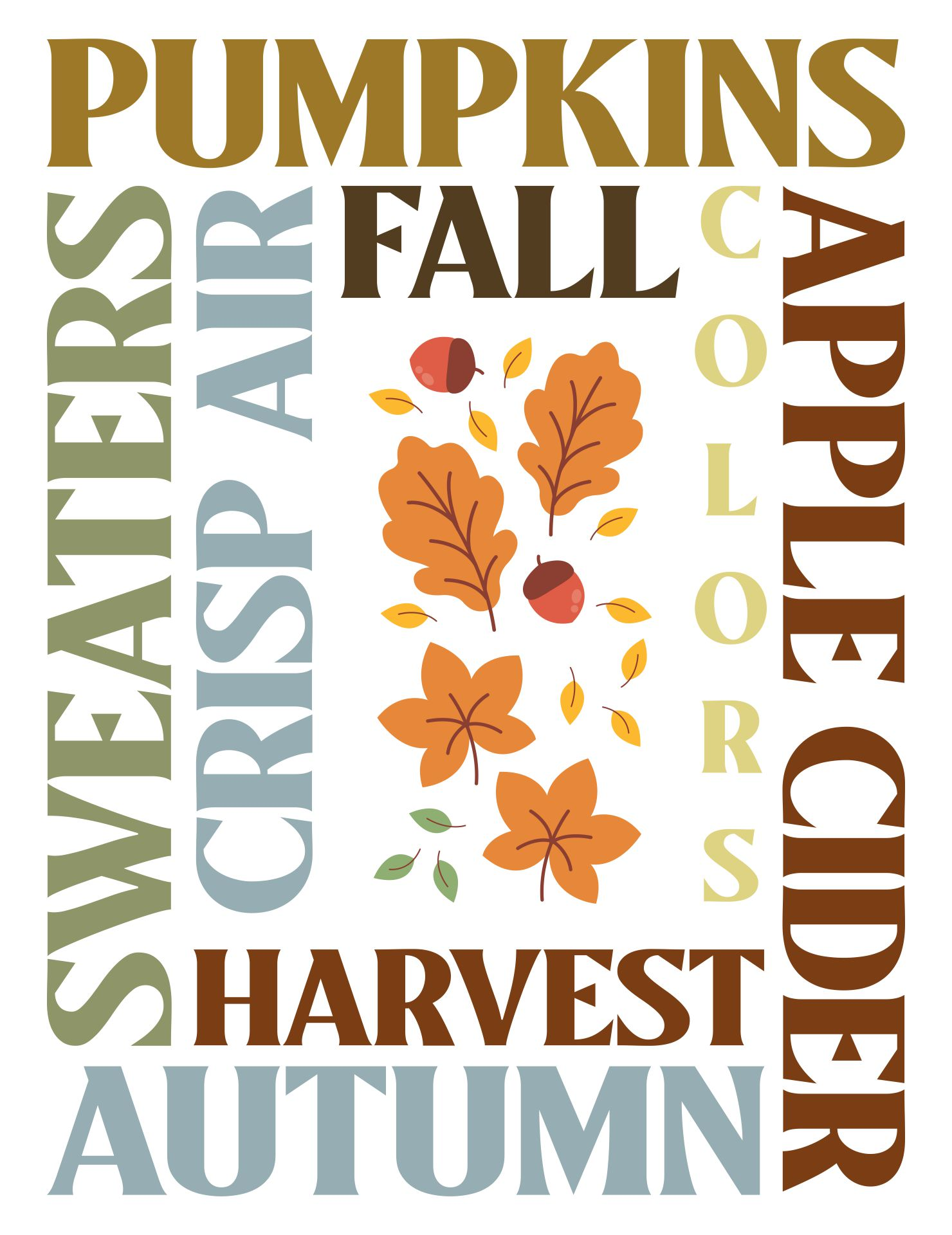 5 Images of For The Fall And Thanksgiving Subway Art Printable