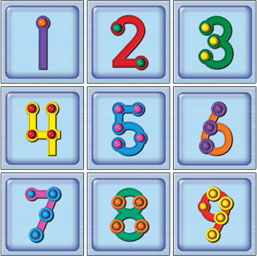 6 Images of TouchMath Printable Number Cards