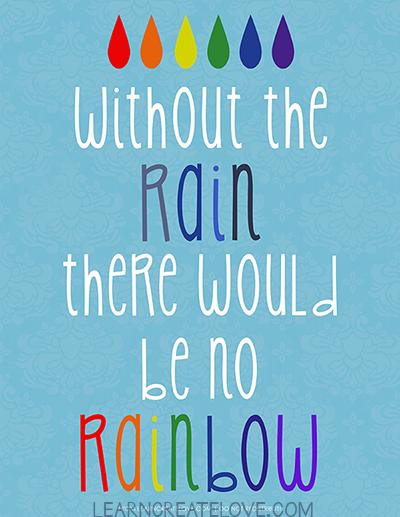 Rainbow Art Printable Free
