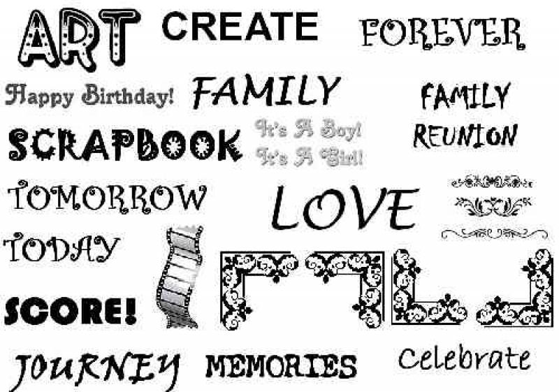 Scrapbook Printables Words