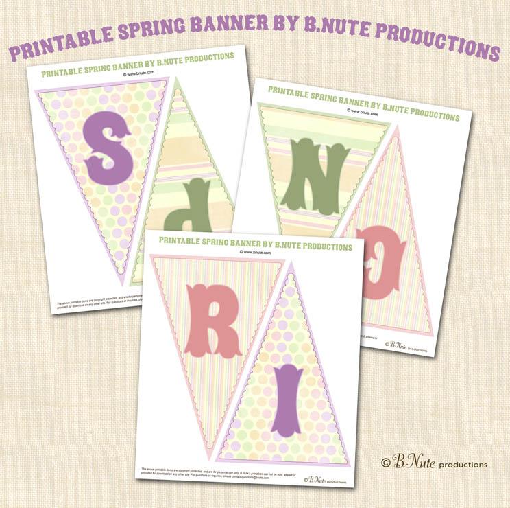 Spring Banner Printable Free