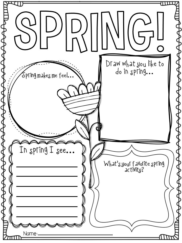 8 Best Images of Spring Worksheets Printables - Free ...