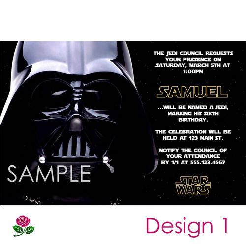 Star Wars Birthday Invitations Printable Free