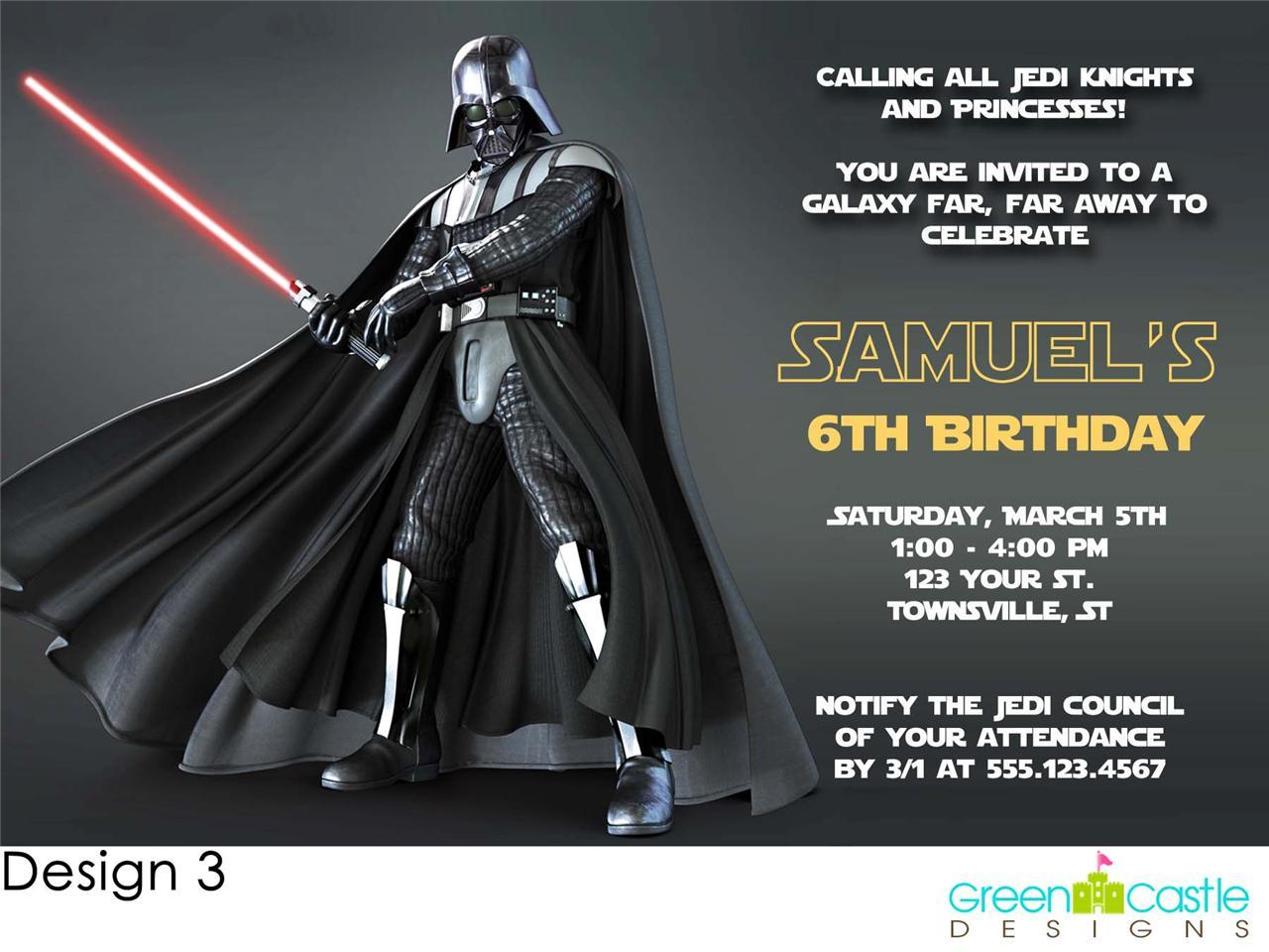 Star Wars Birthday Party Invitation Template