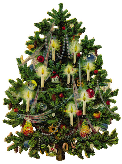Victorian Christmas Tree Clip Art