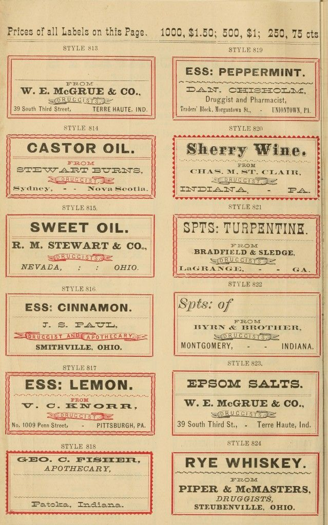 7 Best Images Of Free Printable Vintage Apothecary Labels