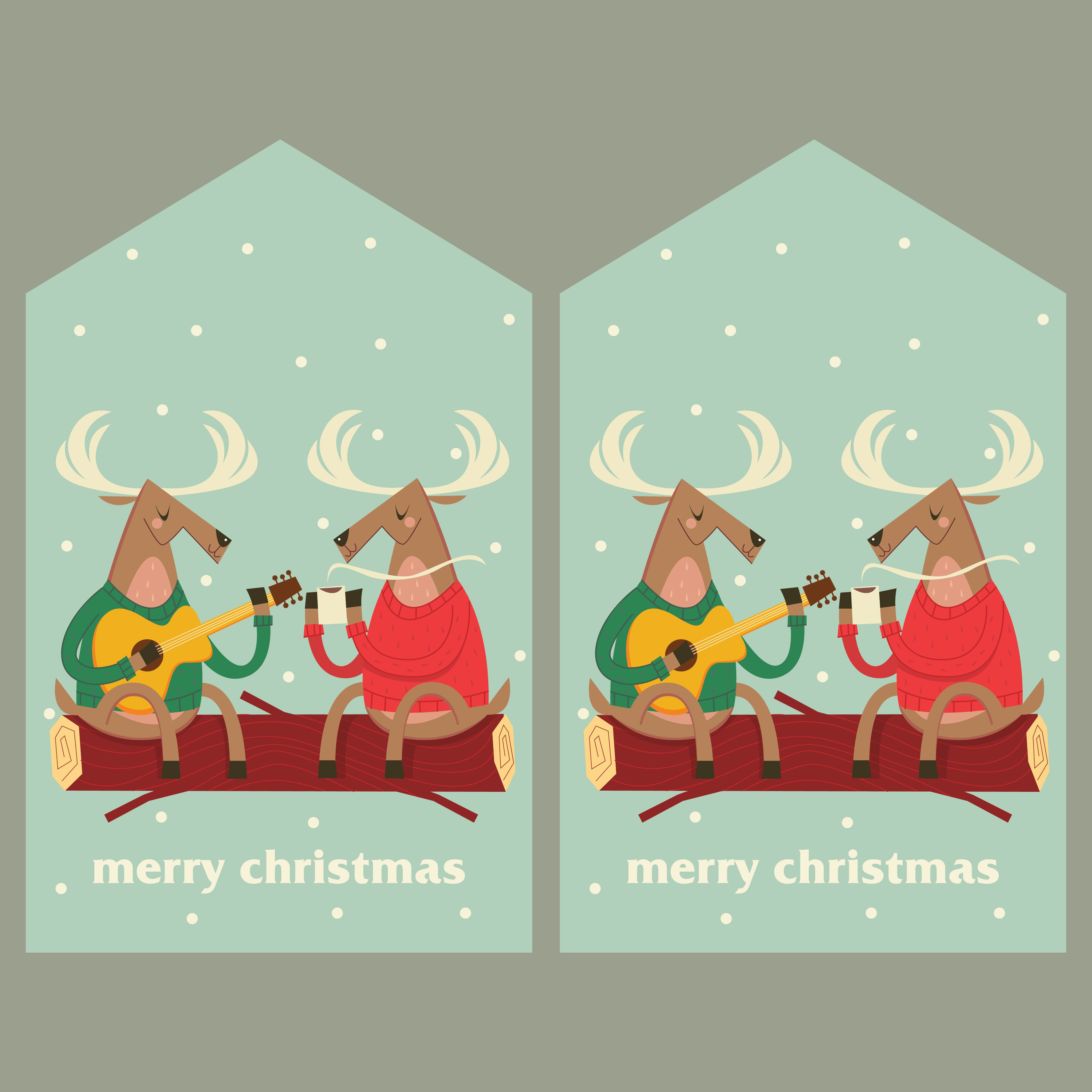 Vintage Christmas Gift Tags Printable