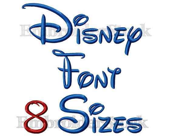 Walt Disney Font Machine Embroidery Designs
