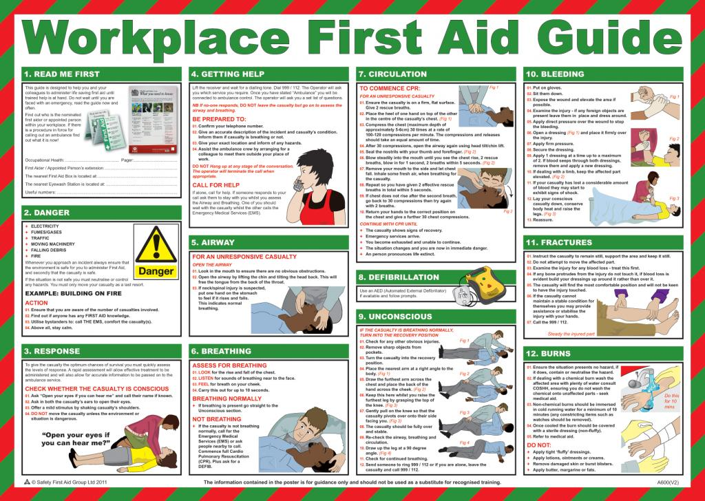 6 Images of Free Printable First Aid Chart