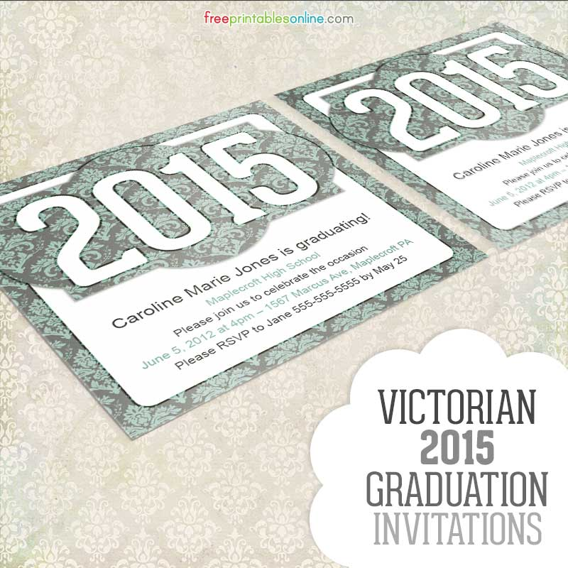 6 Images of Printable Graduation Invitations 2015 Ceromy