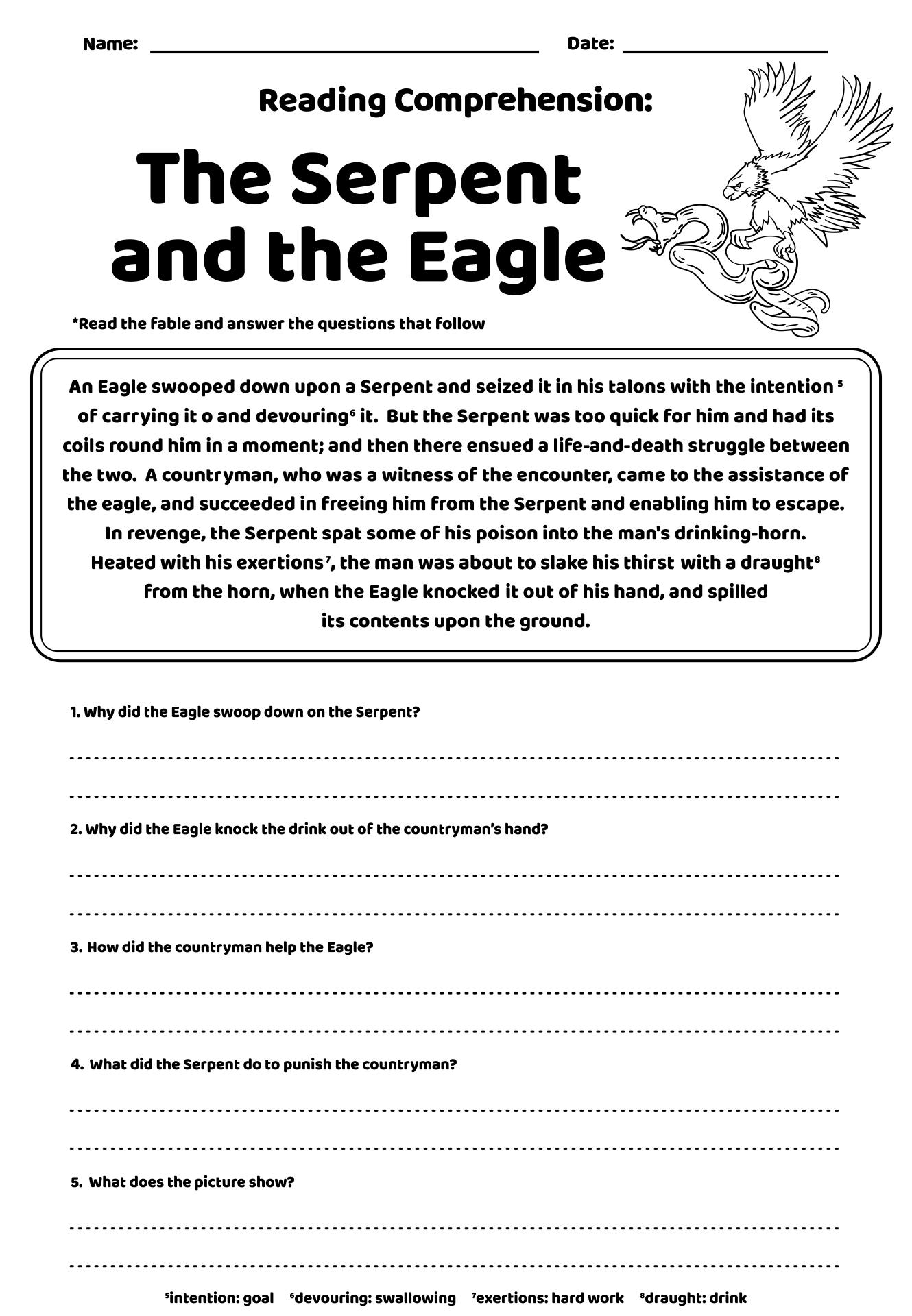 Printables. Free Comprehension Worksheets For Grade 4. Gozoneguide ...