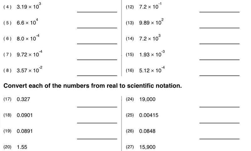 Worksheets Math In Science Worksheets 8 best images of printable homework for 6th grade scientific notation worksheet