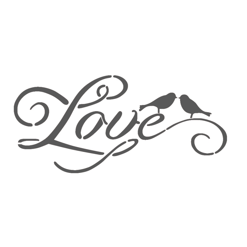 9 Images of Love Printable Stencil Templates