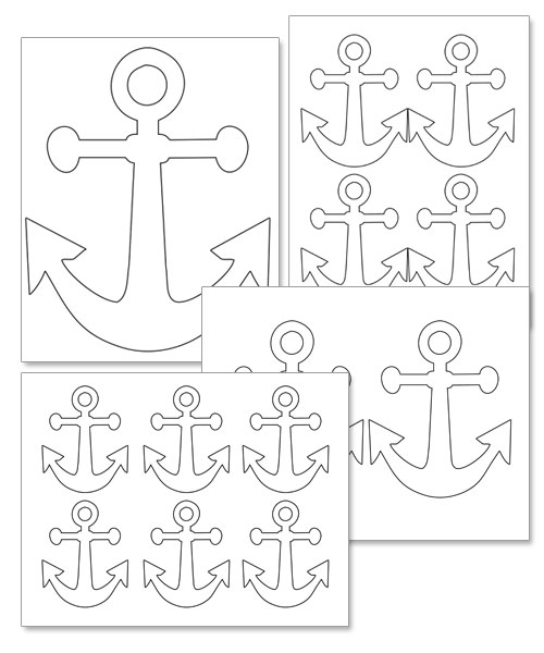 6 Images of Anchor Template Printable Free