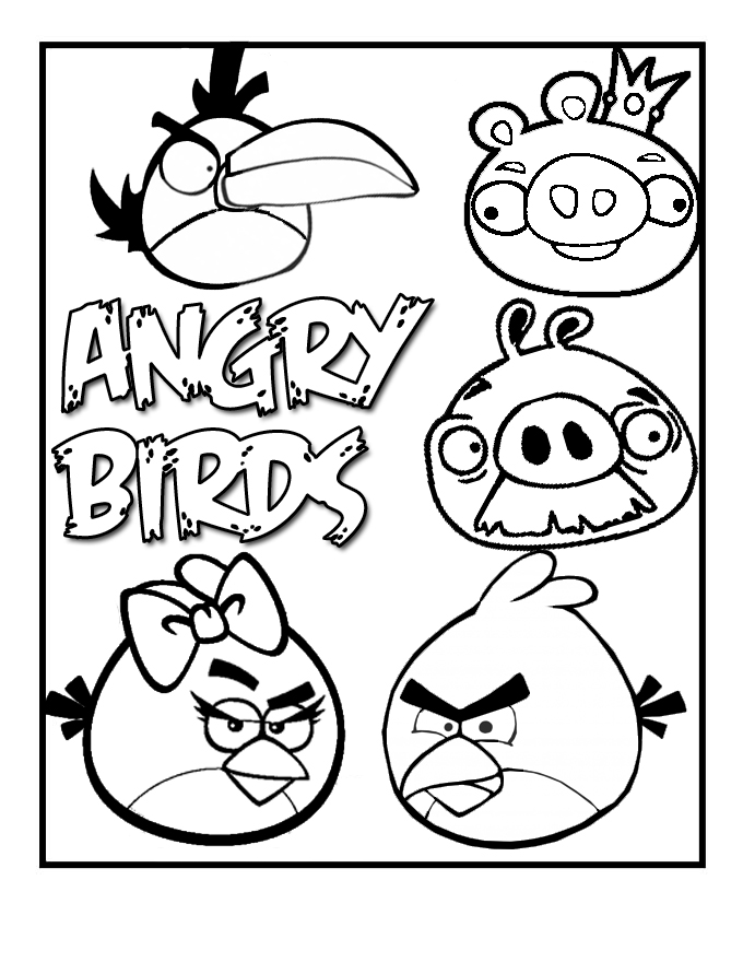 5 Images of Angry Birds Coloring Printables For Boys