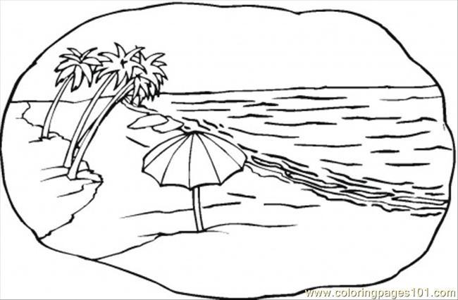 6 Images of Printable Beach Scenes