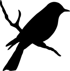 4 Images of Sparrow Silhouettes Stencils Printable Free