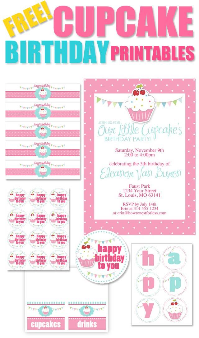 Birthday Cupcake Printables Free