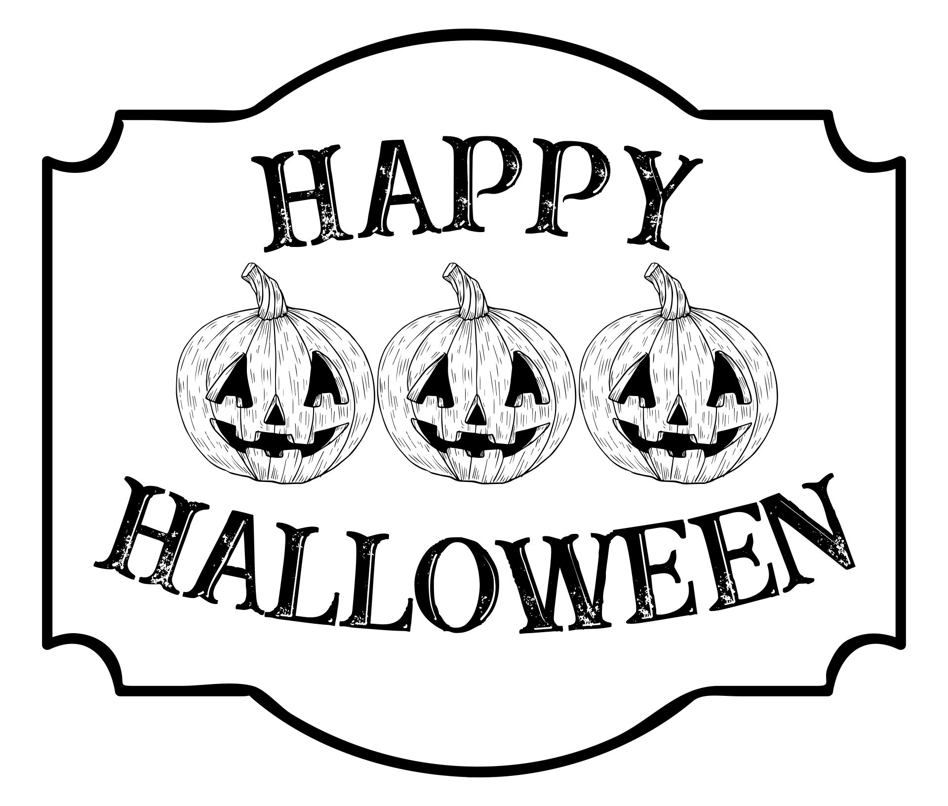 Black and White Halloween Signs Printables