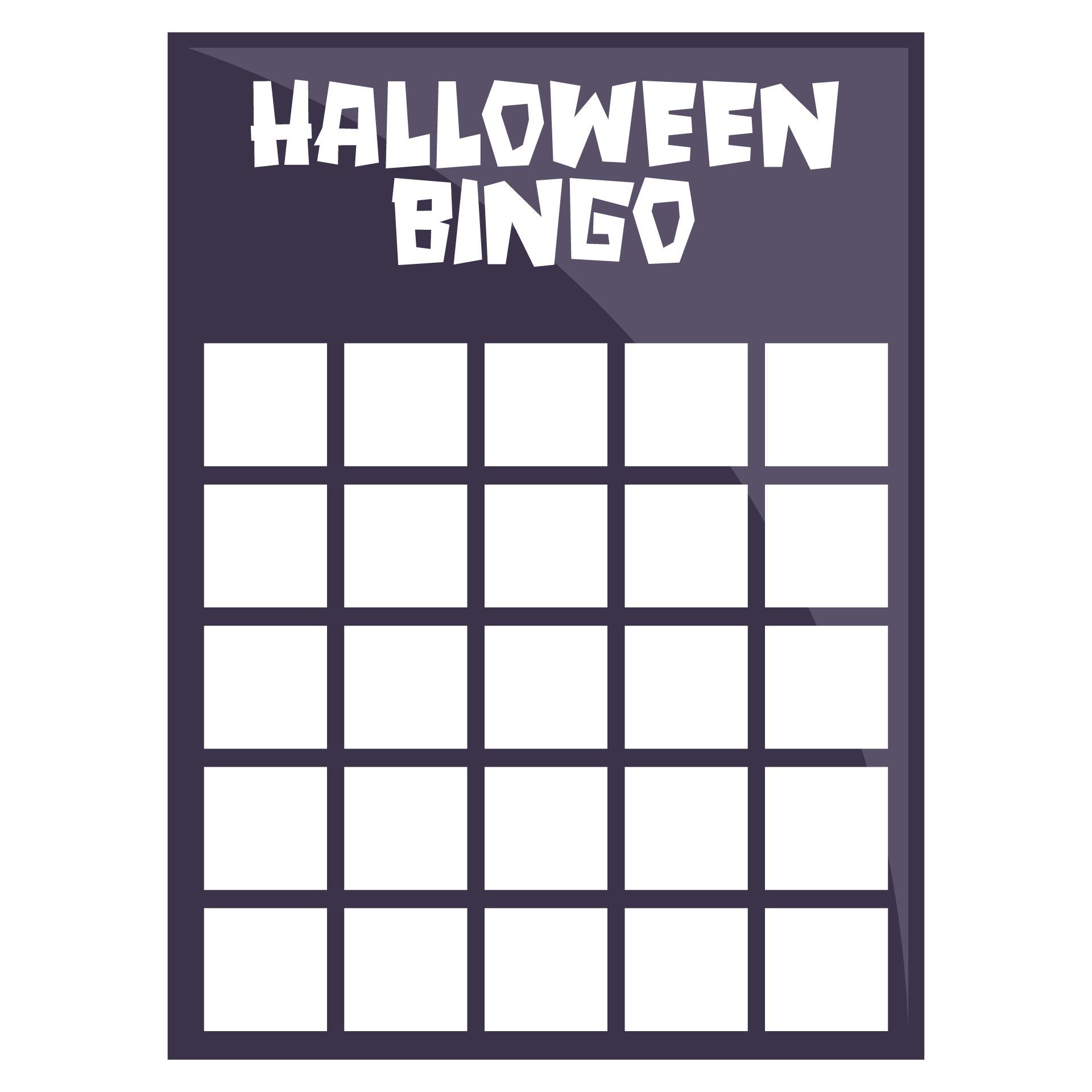 Blank Halloween Bingo Cards