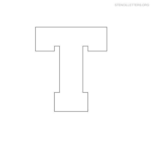 Block Letter Stencils T