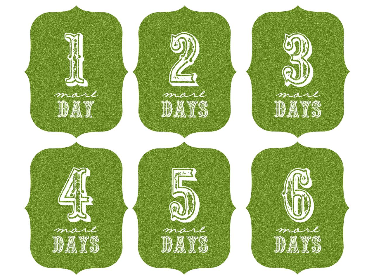 Disney World Countdown Calendar Printable, Free Printable Countdown ...