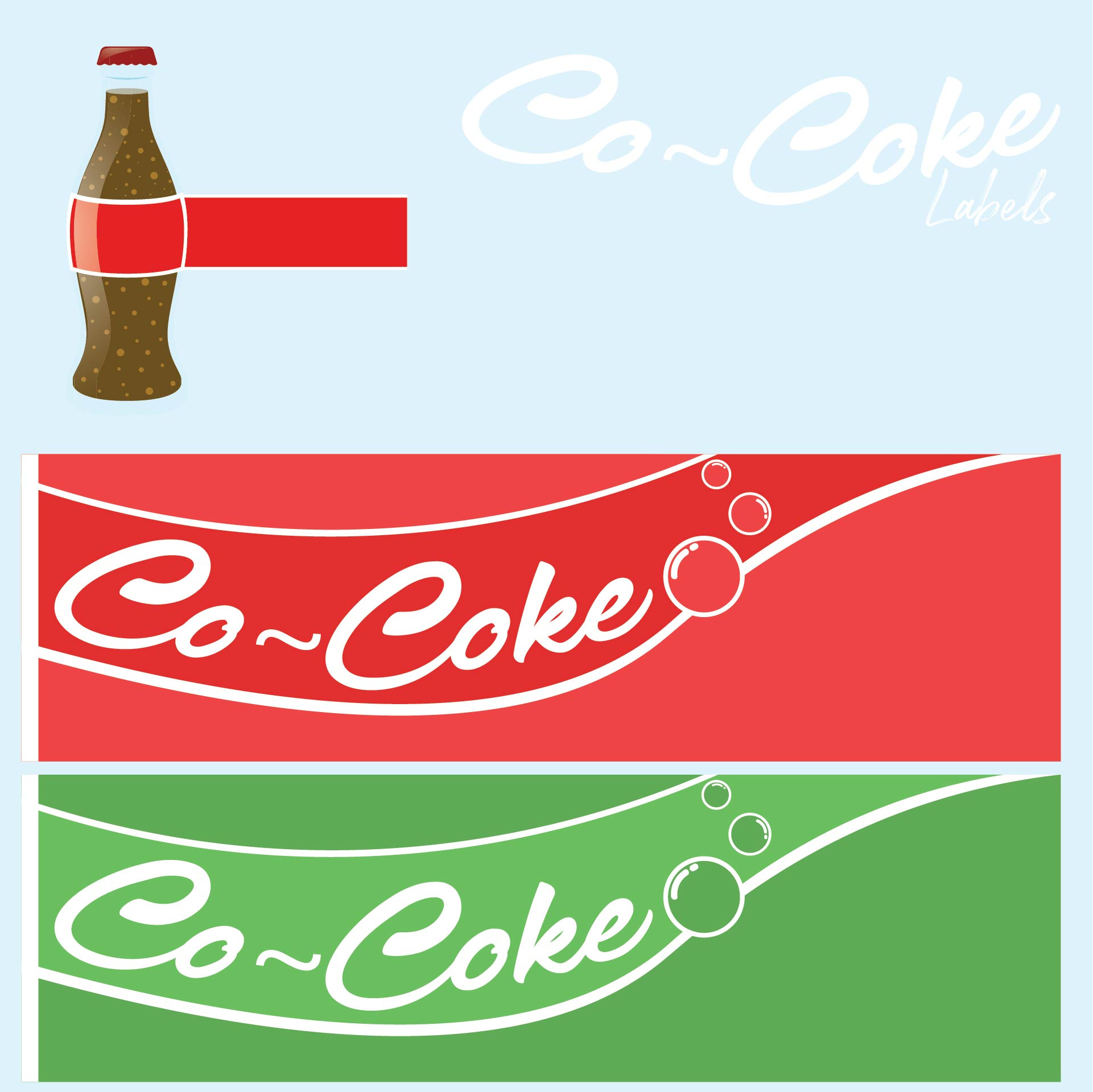 Coke Vending Machine Soda Labels
