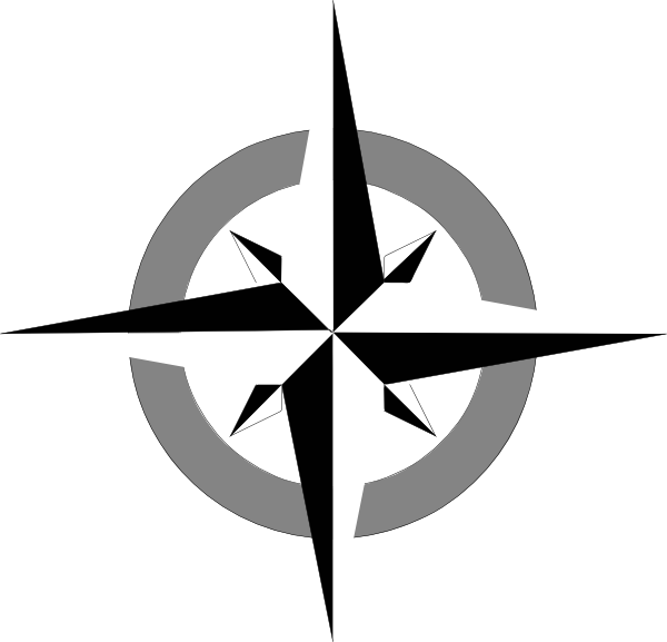 5 Images of Blank Compass Rose Printable