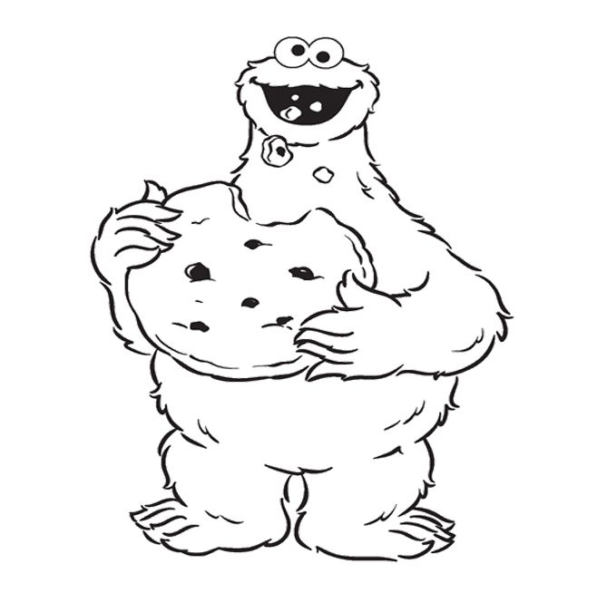 cookie monster coloring pages printable 6 best images of printable coloring pages cookie cookie