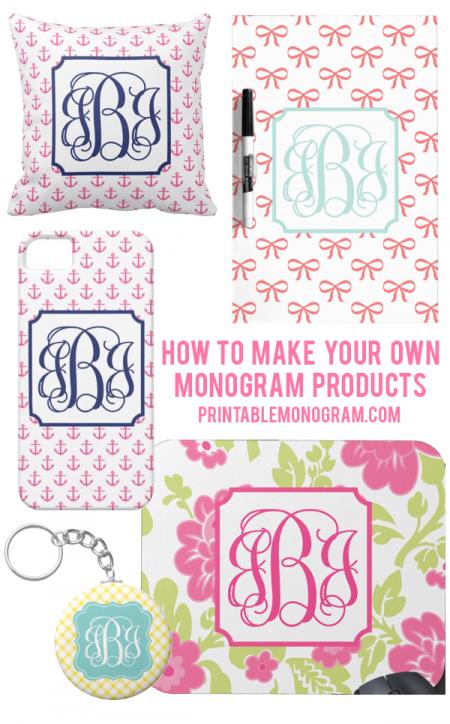 Create Your Own Monogram Free Printable