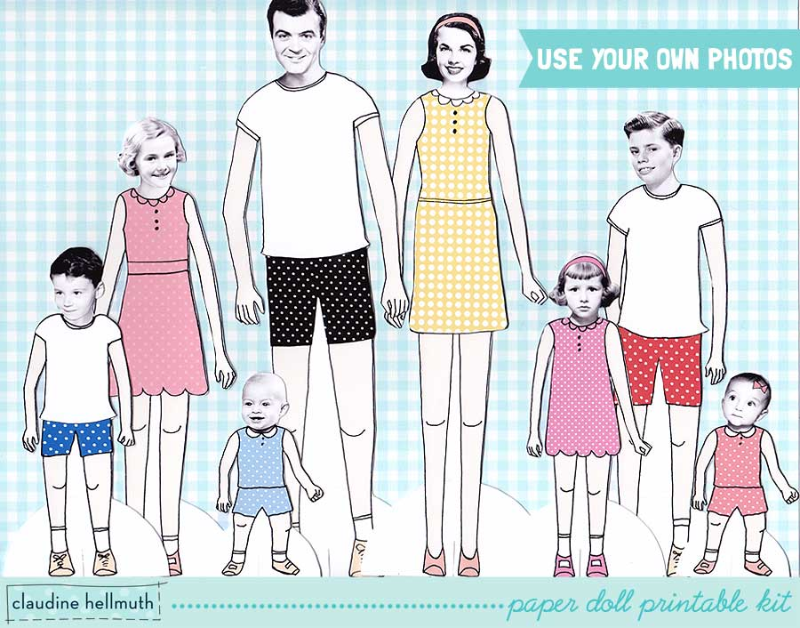 8 Images of Family Paper Dolls Printable