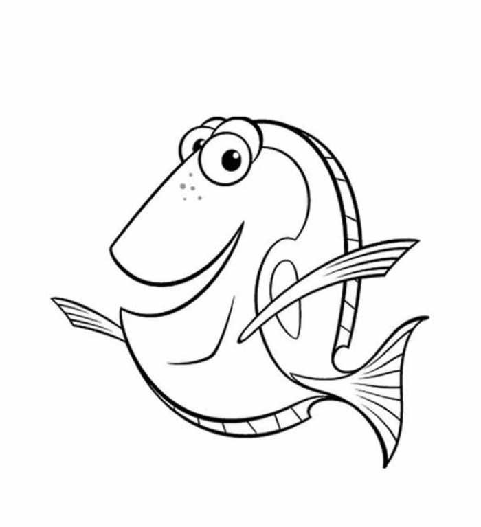 5 Images of Nemo Coloring Pages Free Printable