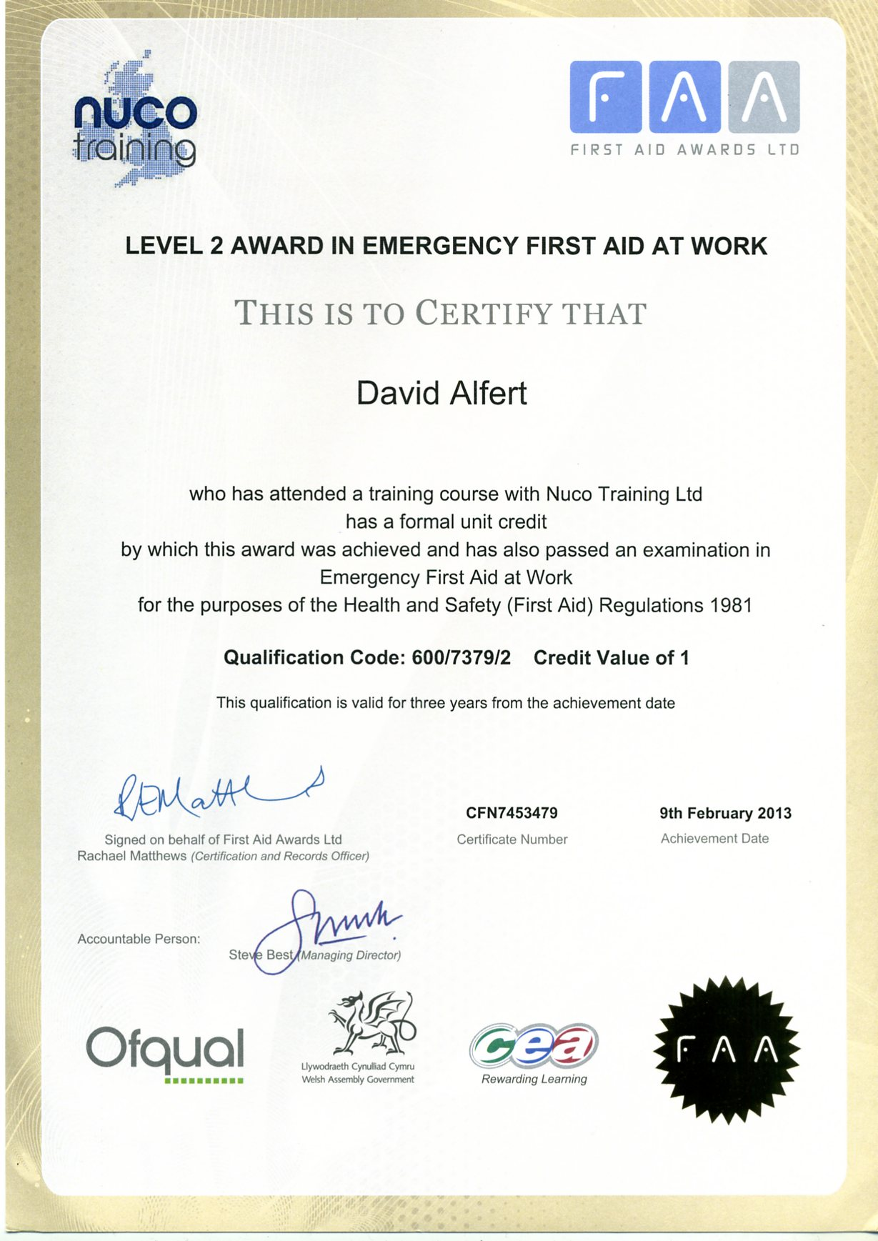 first aid certificate template free 6 best images of first aid certificate printable first