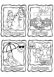 7 Images of Four Seasons Coloring Page Printable
