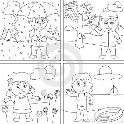 Four Seasons Coloring