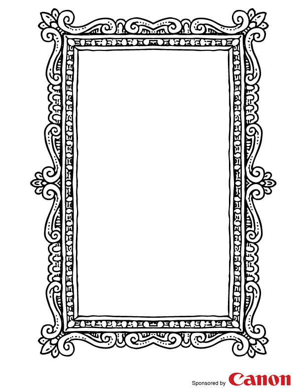 free picture frame coloring pages - photo#16