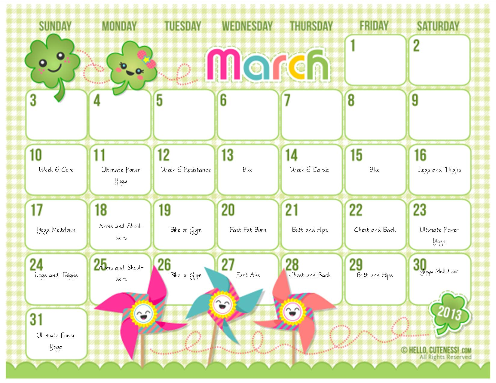 Cute Calendar Printable : Best images of free cute printable calendar templates
