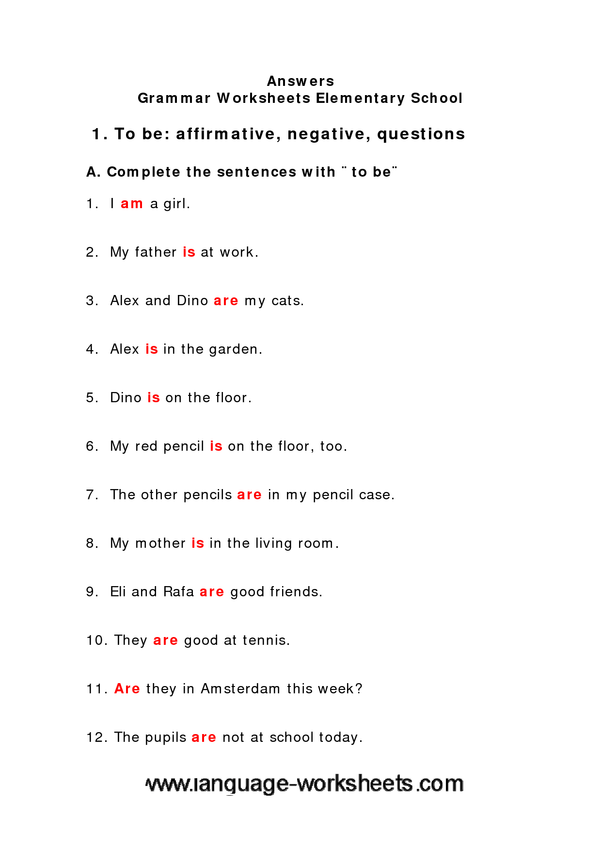 Grammar Worksheets For Middle School Free Worksheets Library – Grammar Worksheets Free