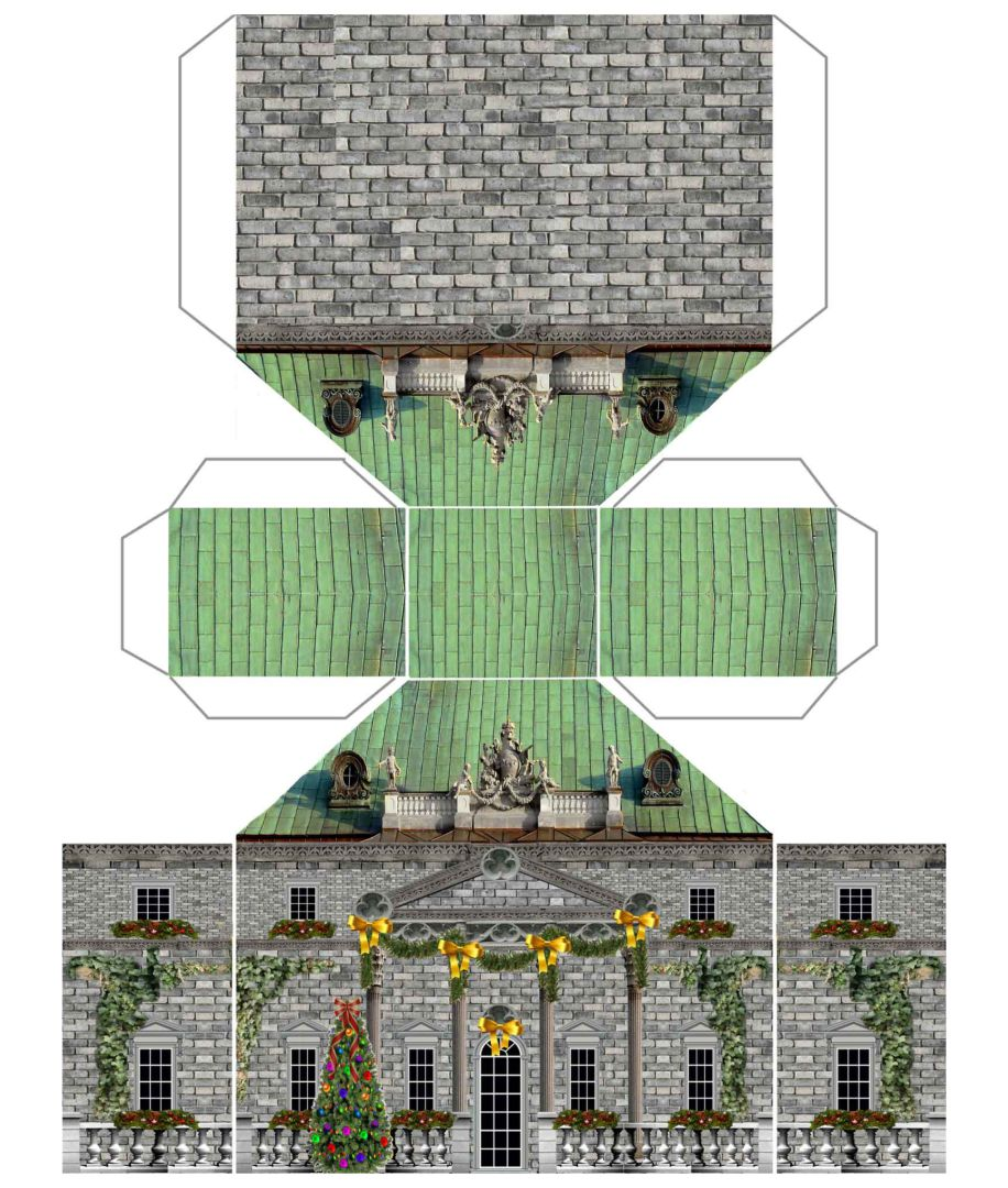 N Scale Paper Building Models