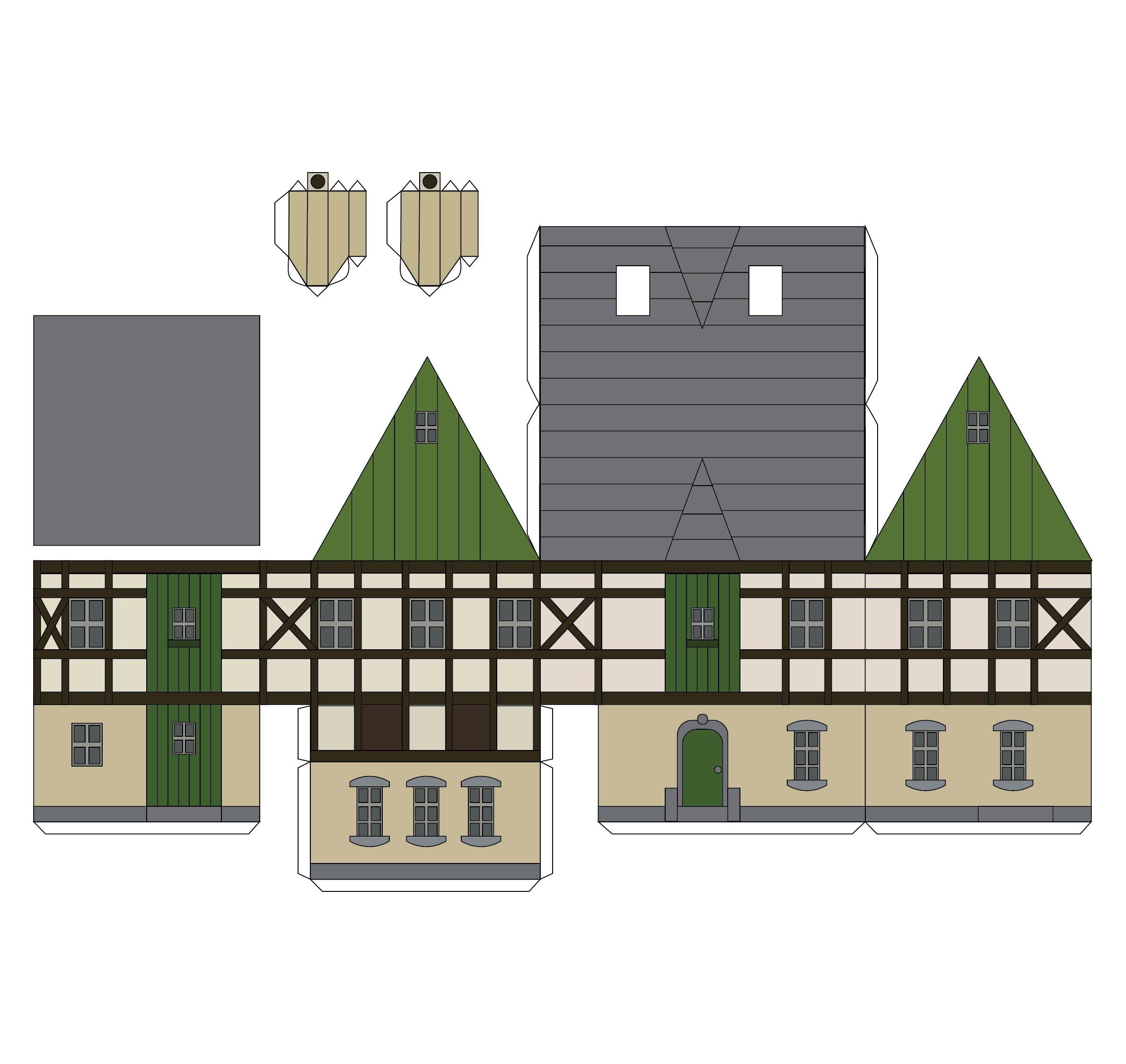 Paper Model Buildings Downloads