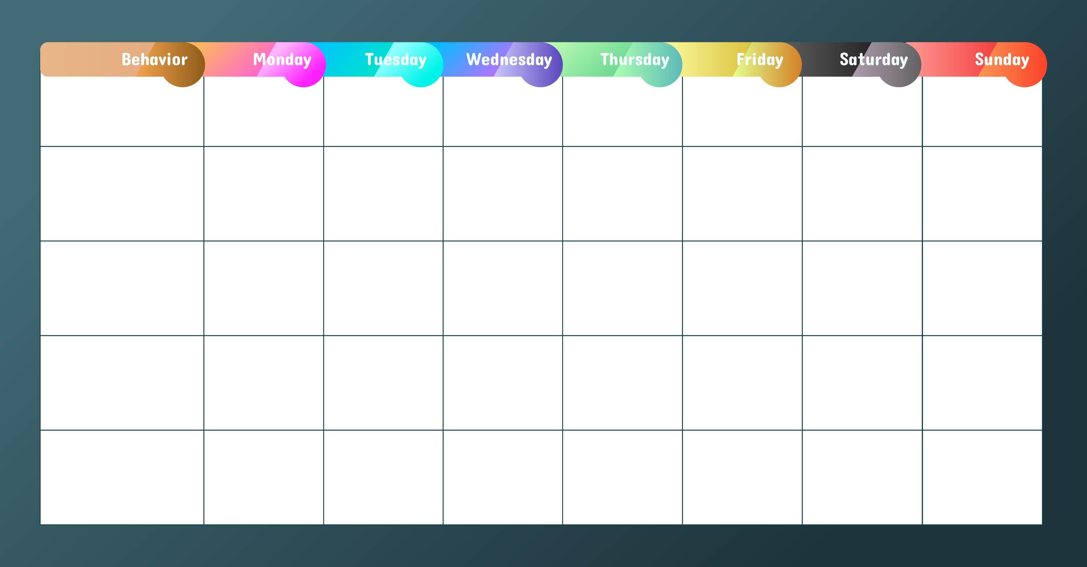 Printable Behavior Charts