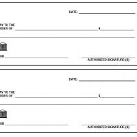 large fake check template - 6 best images of free printable check template printable