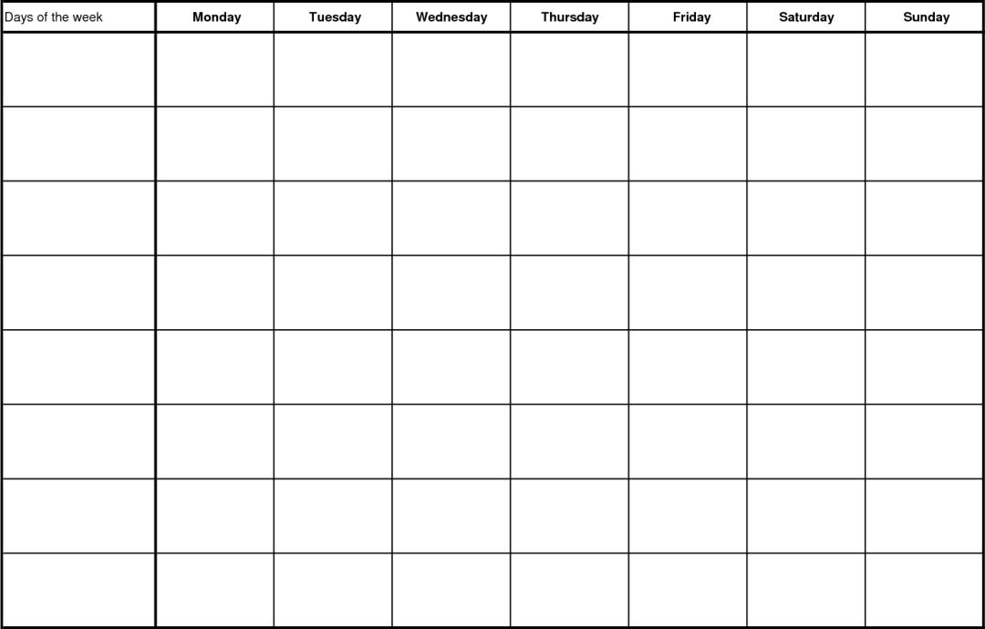 Printable Blank Chore Chart Templates