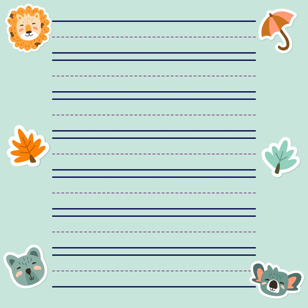 Printable Blank Handwriting Paper