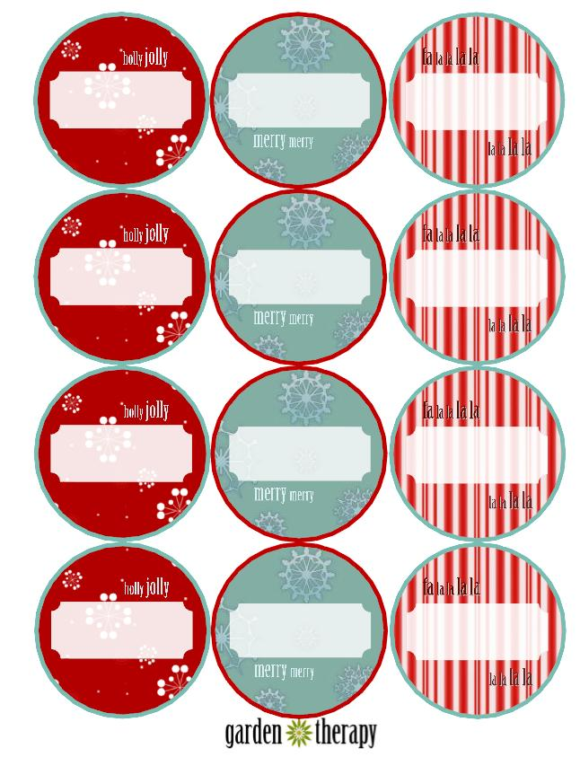 Free Printable Christmas Canning Labels