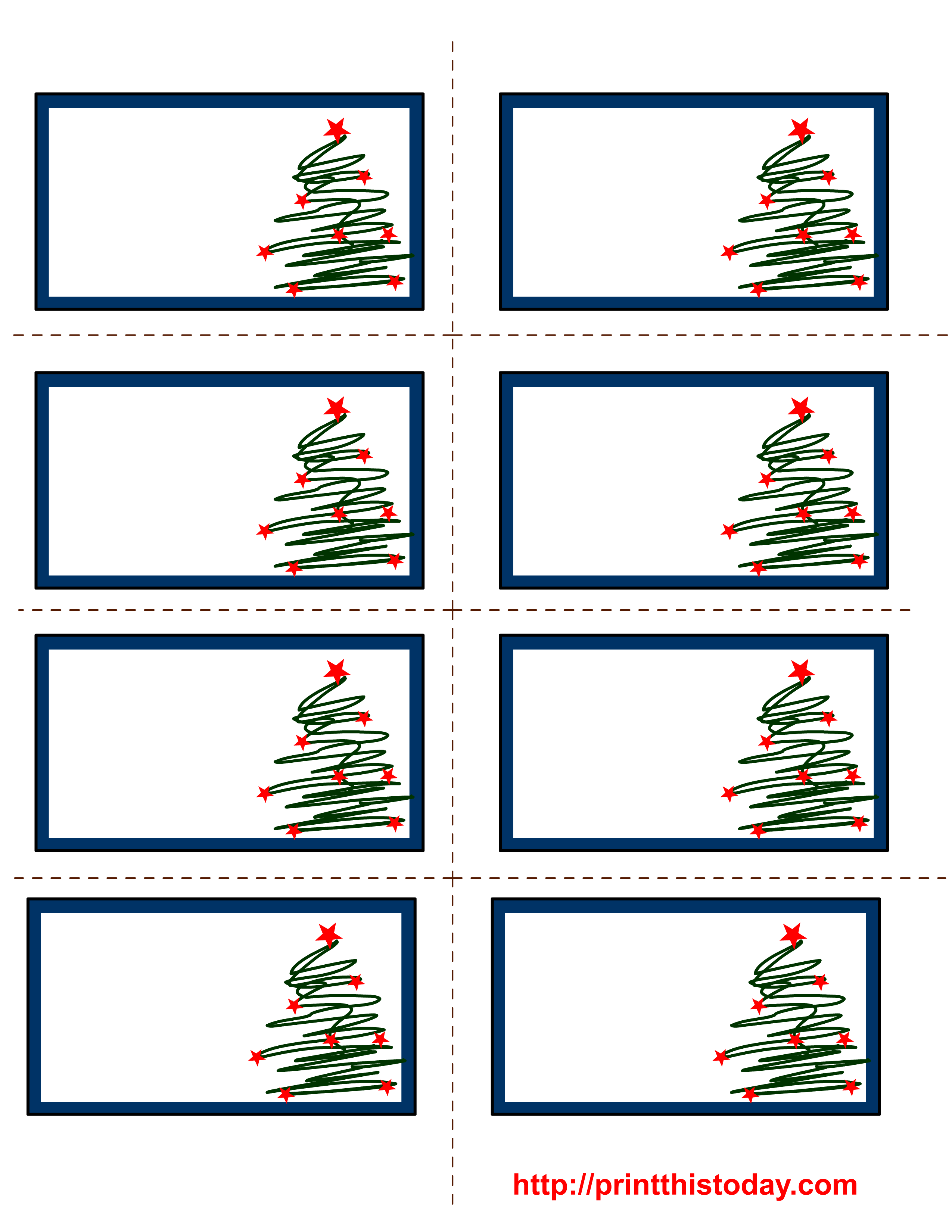 post it labels templates - 6 best images of free printable blank christmas labels