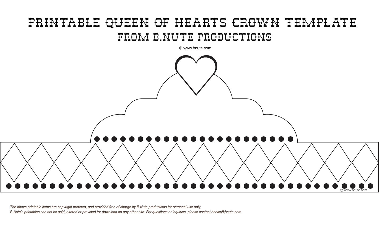 6 Images of Free Printable Birthday Crown